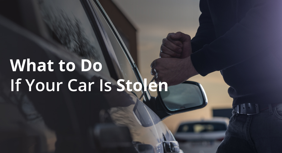 blog image of a car theft; blog title: What to do If Your Car Is Stolen